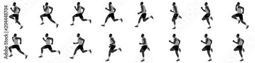man run cycle and jogging animation spite sheet Canvas-taulu