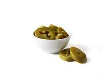 Pickled Jalapenos In Bowl
