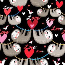 Seamless Cartoon Images Of Lov...