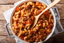 American Goulash Made From Pas...