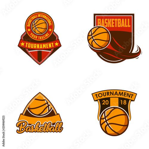 Fotografiet  basketball logo badge sports, emblem