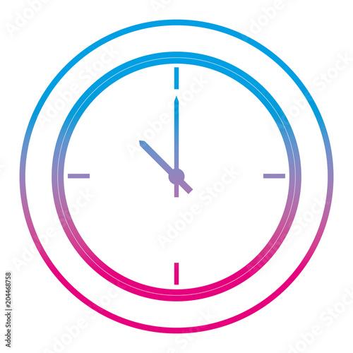 Fototapeta degraded line circle wall clock object design