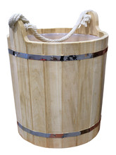 Picture Of A Wooden Bucket. Is...