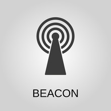 Beacon Icon. Beacon Symbol. Fl...