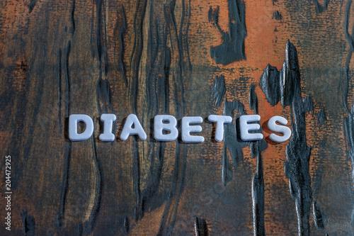 Fotografia, Obraz  the word diabetes written in white block letters