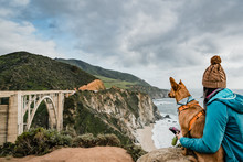 Bixby Bridge California Dog Girl
