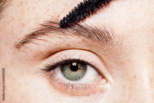 Close-up of female blue eye without make-up Fototapet