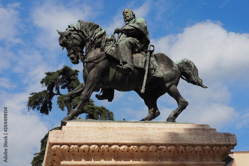 Fototapeta Garibaldi monument in Verona, Veneto, Italy