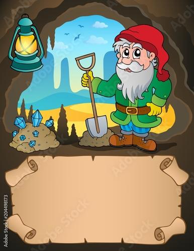 Foto op Canvas Voor kinderen Small parchment and dwarf miner 2