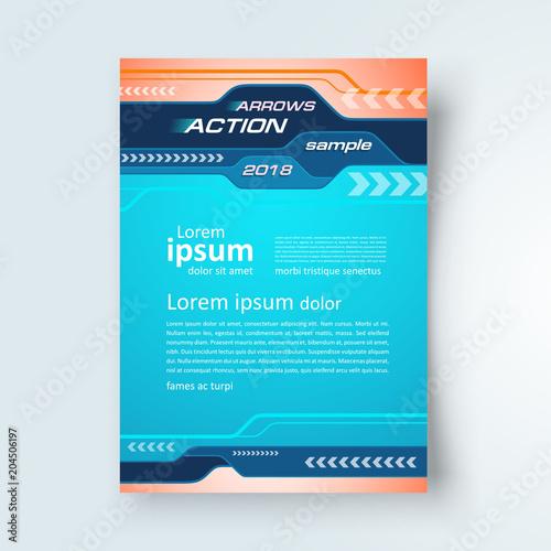 flyer arrows cover design vertical brochure size a4 template