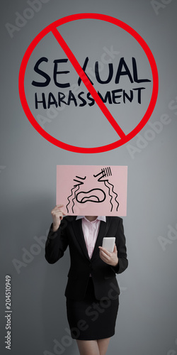 Fototapeta stand against sexual harassment obraz