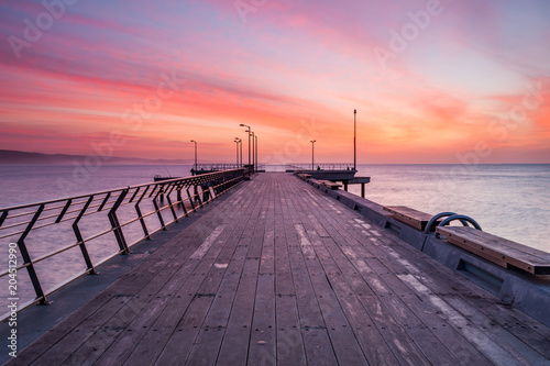 Photo Sunrise over the Lorne Jetty on the Great Ocean Road in Victoria Australia on 22