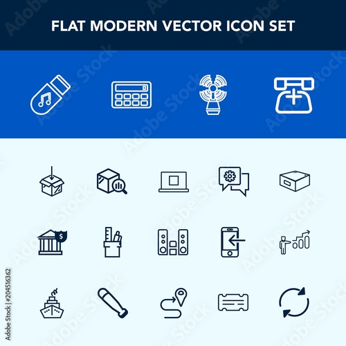 Modern, simple vector icon set with reload, arrow