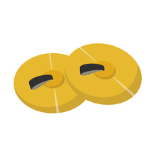 Vector Illustration Of Cymbals...
