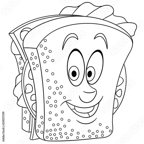 coloring book coloring page colouring picture sandwich buy