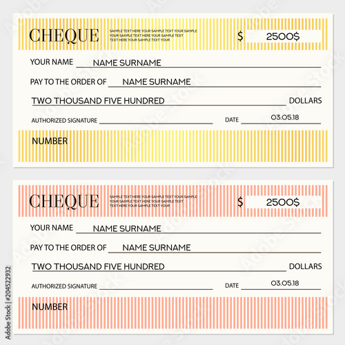 check cheque chequebook template lines pattern lines gold