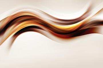 Złota fala brązowy projekt streszczenie tło