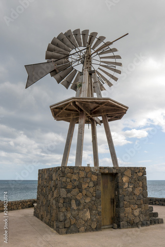 Old windmill at Lanzarote island