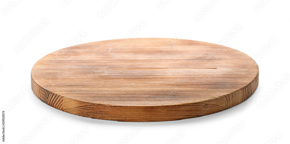 Fototapety, obrazy: Wooden board on white background. Kitchen accessory