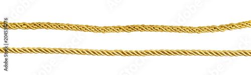Fotografie, Obraz  Set of golden silk ropes