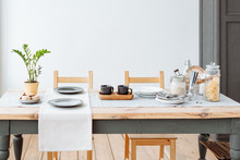 Canteen. Wooden Dining Table W...