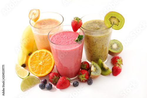 Papiers peints Fete, Spectacle fruit smoothie glasses