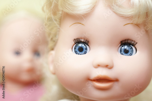 Obraz na plátne The faces of the dolls.