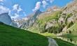 Bergpanorama im Alpstein, Ostschweiz