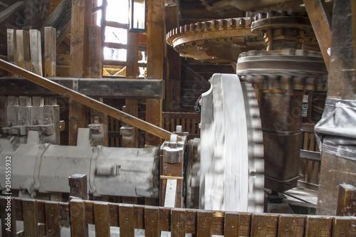 Moinho de vento, produção de farinha