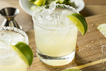 Alcoholic Lime Margarita With ...