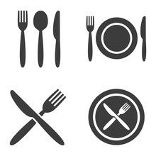 Plate, Fork, Spoon And Knife I...