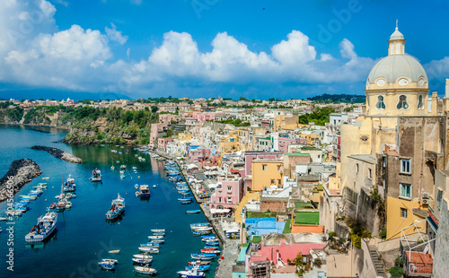 Wall Murals Algeria Picturesque Island of Procida,Gulf of Naples, Italy