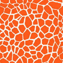 Vector Seamless Pattern With Giraffe Skin Texture.