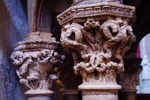 Intricate Carvings Of Corinthian Column Capitals