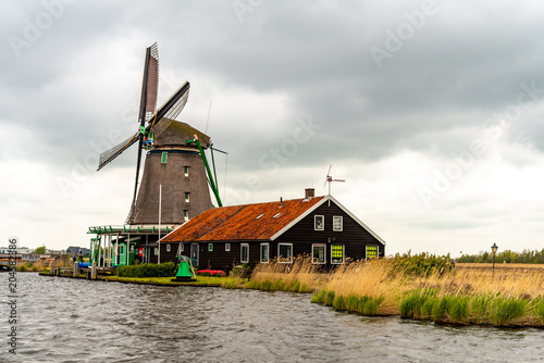 Spoed Foto op Canvas Molens Old historical windmills