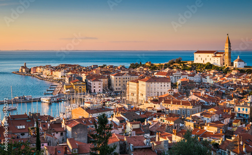 Photo  Skyline of Piran, Slovenia