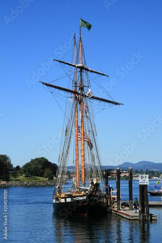 Keuken foto achterwand Schip Old Fashioned Ship - Harbour , Victoria, BC, Canada