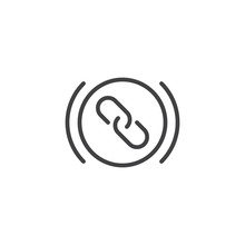 Web Link Outline Icon. Linear ...
