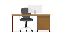 Office Desk Or Table With Offi...