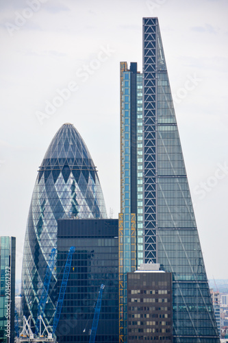 Fotografía  City of London one of the leading centers of global finance