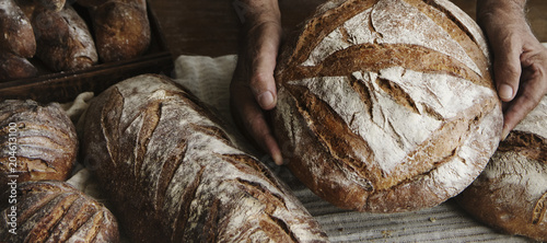 Poster Brood Homemade sourdough bread food photography recipe idea