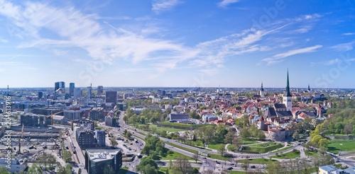Foto op Aluminium Algerije Aerial view of City Tallinn Estonia