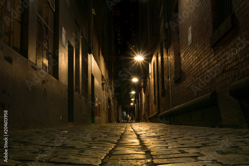 Photo Stands Narrow alley Urban alley way