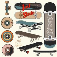 Collection Of Vector Skateboar...