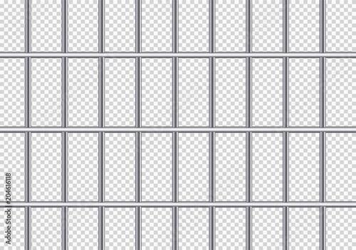 Fényképezés  Realistic metal prison grilles