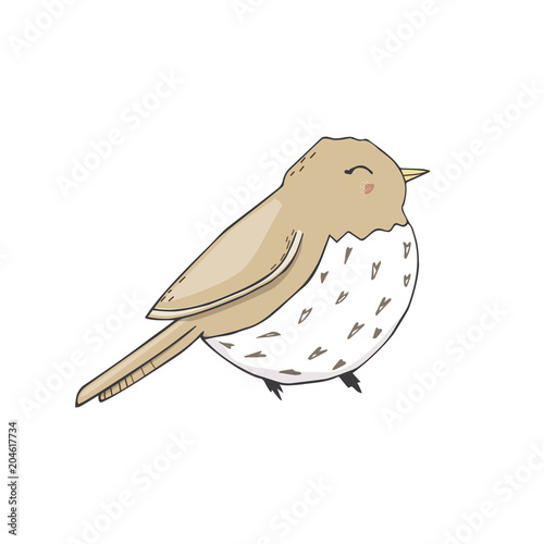 Sparrow Vector Songbird Illustration Singer Drawing Character Bird Color Grey Texture Smile Dove Face Full Geometric Cute Forest Birds Small Flying Peace Sit Funny Bluebird Zoo On White Background Buy This