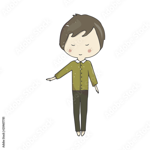 20+ Boy With Brown Hair And Green Eyes Drawing JPG