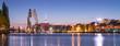 canvas print picture - Skyline Panorama mit Molecule Man und Fernsehturm, Berlin, Deutschland
