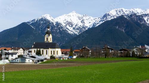 Tuinposter Alpen city in the Alps in Austria, Tyrol
