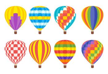 hot air colorful balloon